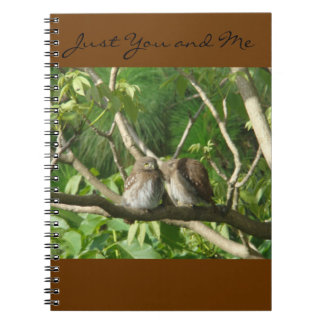 Two romantic Owls Notebook