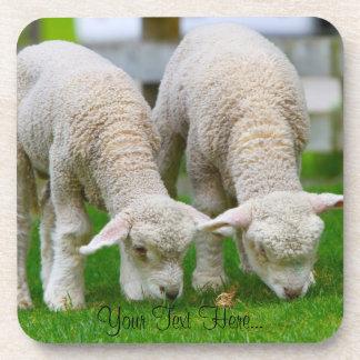 """Two Sheep"" Cork Coaster"