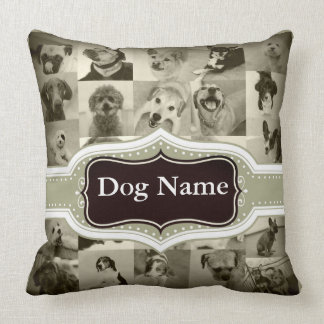 Two Sided Dog Name and Photo Pillow