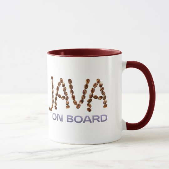 Two-Sided Java On Board Mug