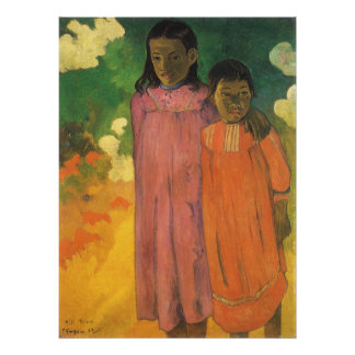 Two Sisters by Gauguin, Vintage Impressionism Art Print