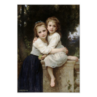 Two Sisters by William Bouguereau Print