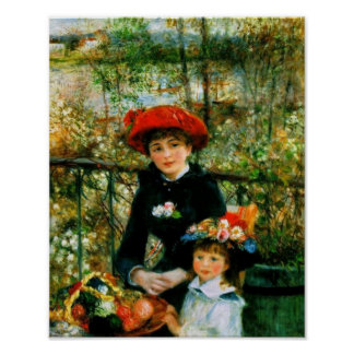 Two Sisters On the Terrace by Renoir Posters