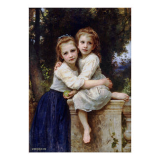 Two Sisters Portrait Poster