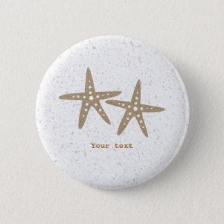 Two Starfish Beach Ocean Birthday Pin BUTTON