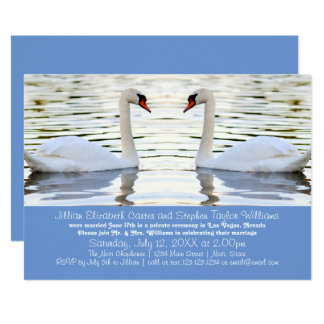 Two Swans Photo - Wedding Announcement