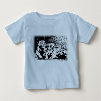 Two Tigers in Black and White Baby T-Shirt