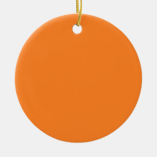 Two-Tone Brown & Orange Background on an Ornament