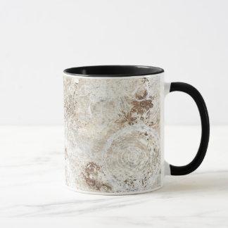 """""""two tone coffee mug""""  trendy artistic """"shabby"""" mug"""