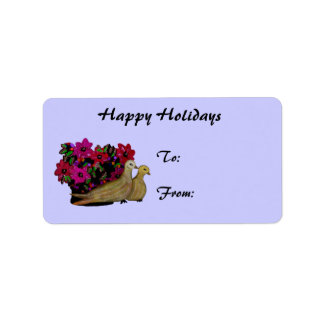 Two Turtle Doves Gift Tag Stickers