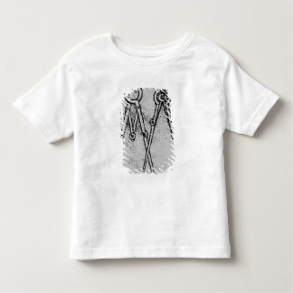 Two types of adjustable-opening compass toddler T-Shirt