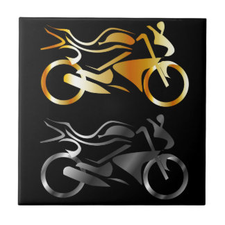 Two wheeler small square tile
