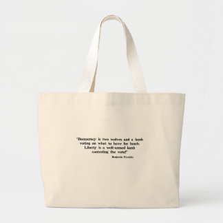 Two Wolves and a Lamb Large Tote Bag