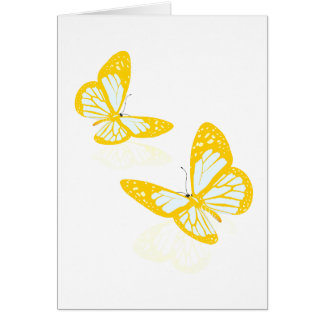Two Yellow Butterflies Note Cards
