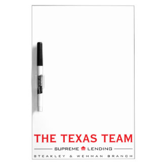 TX Team - Medium Dry-Erase Board