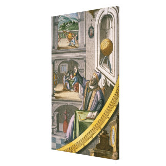 Tycho Brahe (1546-1601) aged 40, amongst his astro Canvas Print