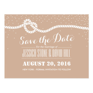 Tying the Knot Save The Date Neutral Wedding Postcard