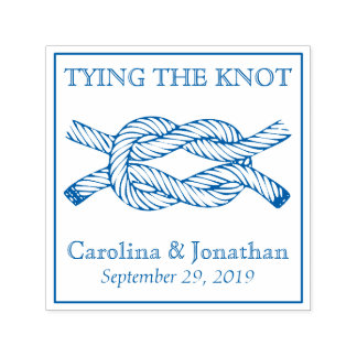 Tying the Knot Self-Inking Wedding Announcement Self-inking Stamp