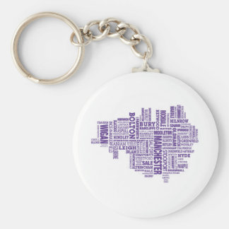 Type map of Greater Manchester Key Ring