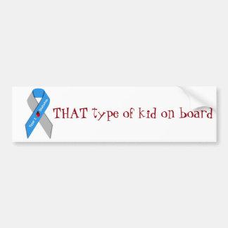 Type one kid awareness Bumper Sticker