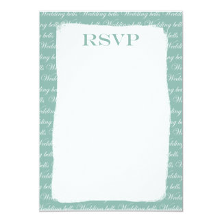 Type Wedding RSPV Invite Blue