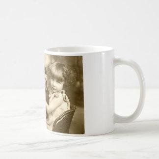 Typewriter girl basic white mug