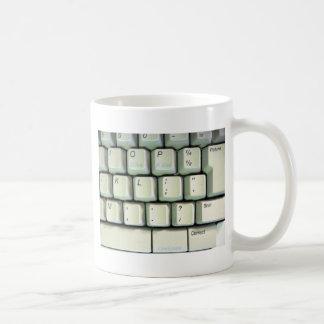 Typewriter Keyboard Basic White Mug