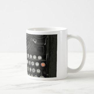 Typewriter old style basic white mug