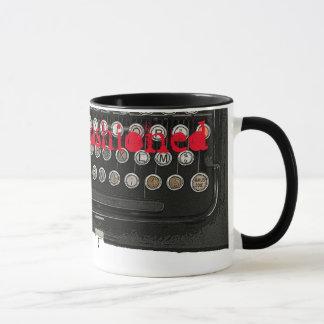 Typewriter old style mug
