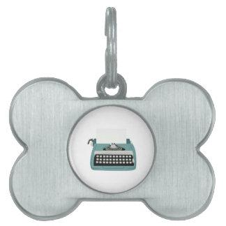 Typewriter Pet ID Tag