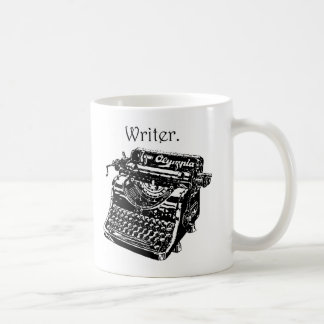 Typewriter Writer Basic White Mug