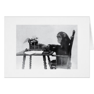 Typing Monkey Card