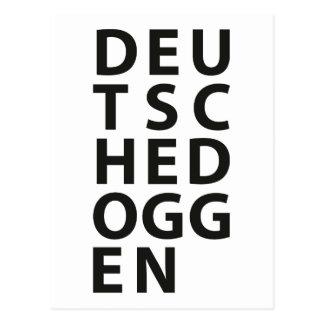 Typo: Deutsche Dogge Postcard