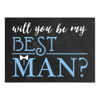 TYPOGRAPHIC WILL YOU BE MY BEST MAN | GROOMSMAN 11 CM X 16 CM INVITATION CARD