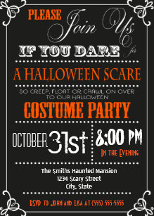 Modern Halloween Party Invitations