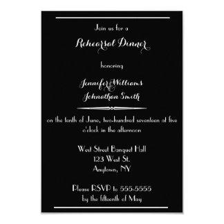 Typography Modern rehearsal dinner invitations