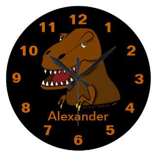 Tyrannosaurus Rex Dinosaur Personalized Name Clock