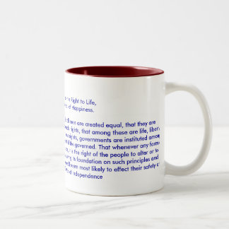 !!! U Create Declaration of Independence Mugs