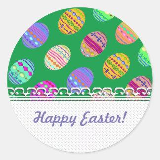 U-pick Color/ Bedazzled Easter Eggs w/ Rhinestones Round Sticker