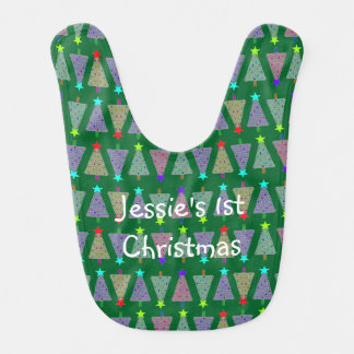 U Pick Color/ Merry Christmas Holiday Trees Bibs