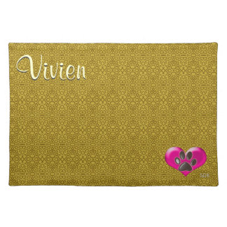 U-pick Color/Paws of Heart and Health Healing Placemat