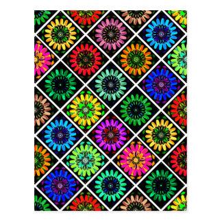 U Pick Color/ Radiant Scrapbook Flowers on Display Postcard