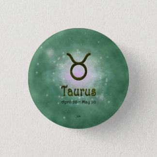 U Pick Color/ Taurus Zodiac Sign 3 Cm Round Badge