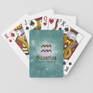 U Pick Colour/ Aquarius Zodiac Sign Playing Cards