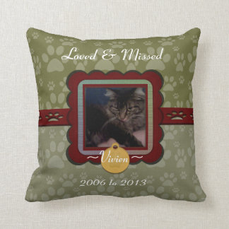 U Pick Colour/Personalised Pet Memorial Cushion