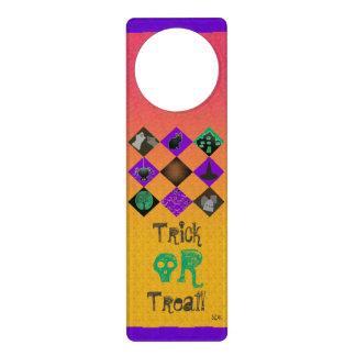U Pick Gradient/Halloween Trick or Treat for Candy Door Knob Hanger