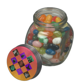 U Pick Gradient/Halloween Trick or Treat for Candy Glass Candy Jar