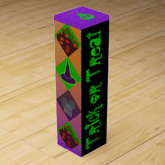 U Pick Gradient/Halloween Trick or Treat for Candy Wine Bottle Boxes