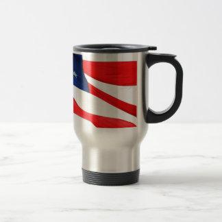 U.S.A. Flag Stainless Steel Travel Mug