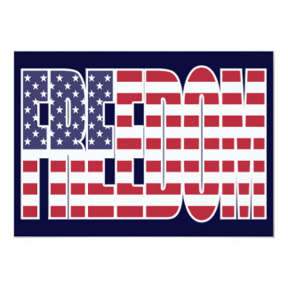 U.S. Freedom Flag Card